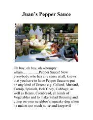 Juan's Pepper Sauce - The Geriatric Gourmet