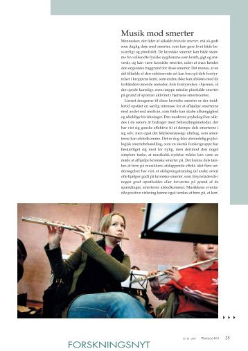 FORSKNINGSNYT Musik mod smerter - Elbo