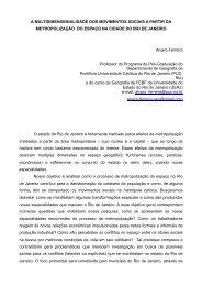 A MULTIDIMENSIONALIDADE DOS MOVIMENTOS SOCIAIS A ...