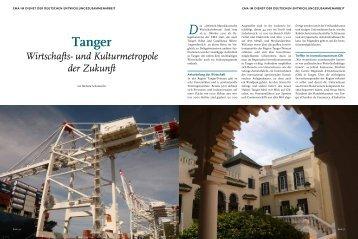 Tanger: Wirtschafts- und Kulturmetropole der Zukunft - EMA