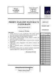 PRÓBNY EGZAMIN MATURALNY Z GEOGRAFII - Gazeta.pl