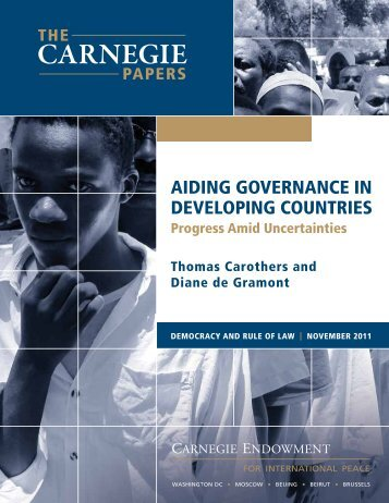 Aiding Governance in Developing Countries - Carnegie Endowment ...