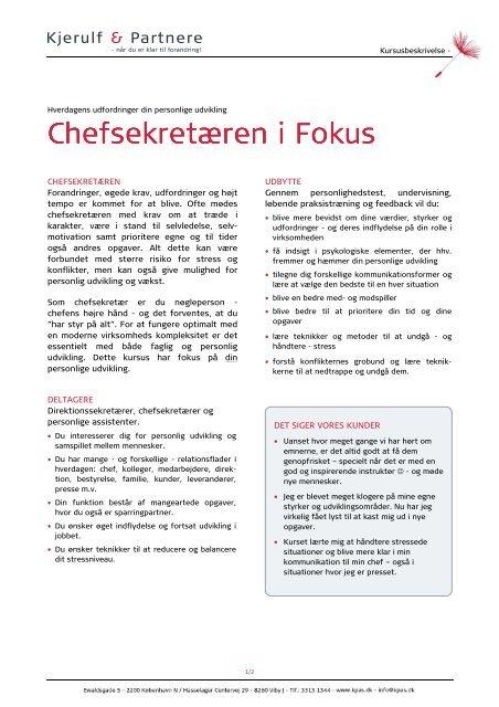 Chefsekretæren, mar 2011 - Kjerulf & Partnere A/S