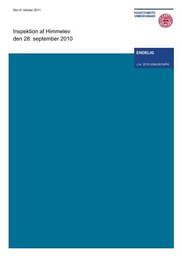 Inspektion af Himmelev den 28. september 2010 - Folketingets ...