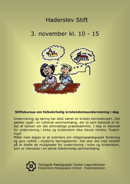 Haderslev Stift 3. november kl. 10 - 15