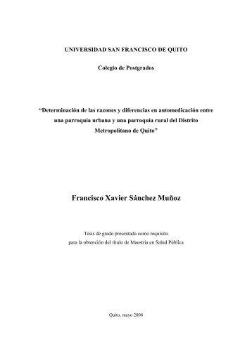 tesis automedicacion - Repositorio Digital USFQ - Universidad San ...
