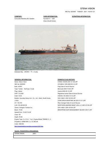STENA VISION - Cargo Vessels International