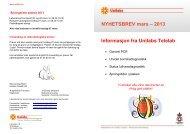 NYHETSBREV mars – 2013 Informasjon fra Unilabs Telelab
