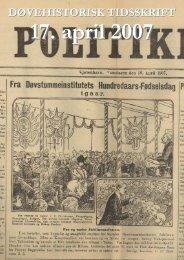 17. April 1907 - Døvehistorisk Selskab