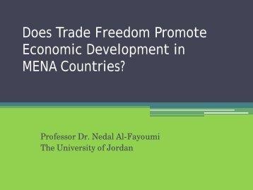 Does Trade Freedom Promote Economic Development in MENA ...
