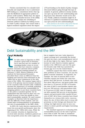 Debt Sustainability and the IMF - the JVI eCampus!