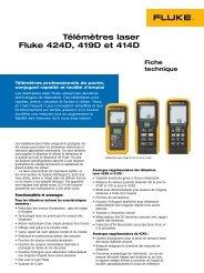 Télémètres laser Fluke 424D, 419D et 414D - Eurosgos.com