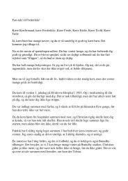 Fars tale til Frederikke Kære Konfirmand, kære Frederikke, Kære ...
