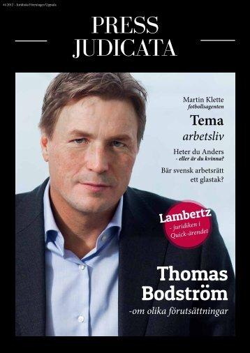Press Judicata nr 4 2012 - Juridiska Föreningen i Uppsala