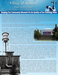 Water Quality Report - Village of Addison, Illinois