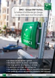 BMCI - Groupe BNP Paribas, la banque d'un monde qui change, à ...