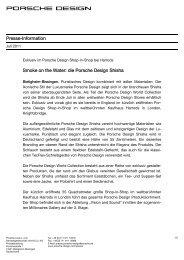 Presse-Information Smoke on the Water: die Porsche Design Shisha