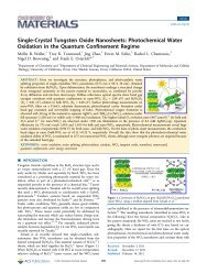 Single-Crystal Tungsten Oxide Nanosheets ... - UC Davis