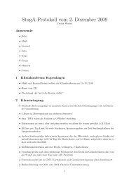 StugA-Protokoll vom 2. Dezember 2009 - StugA Geowissenschaften ...
