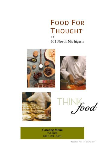 Catering Menu - Food For Thought