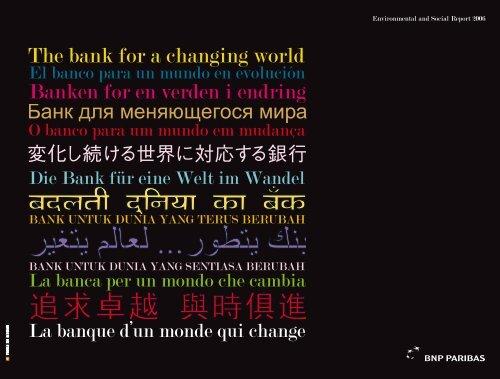 Banken for en verden i endring The bank for a ... - BNP Paribas