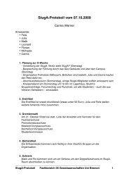 StugA-Protokoll vom 07.10.2009 - StugA Geowissenschaften der ...