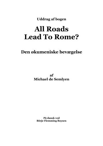 All Roads Lead To Rome? - The Spirit of Prophecy Publications