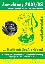 HUGO - Musikalische Frühförderung / Grundausbildung