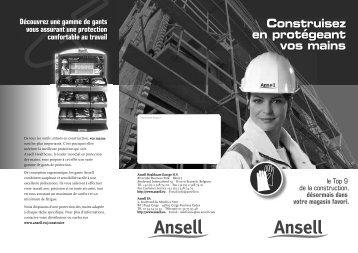 Construisez en protégeant vos mains - Ansell Healthcare Europe