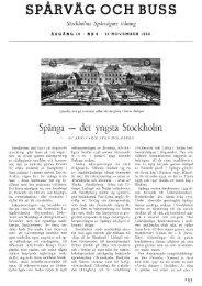 SPÅRVÄG OCH BUSS Stockholms Spårvägars tidning