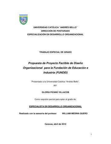 Propuesta de Proyecto Factible de Diseño Organizacional para la ...