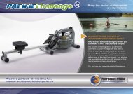 Bring the feel of real on-water rowing indoors. Practice ... - Gfitness
