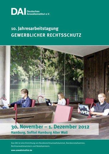1. Dezember 2012 - Deutsches Anwaltsinstitut eV