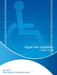People with Disabilities: A Texas Profile