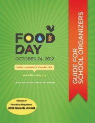 Guide for Schools - Food Day