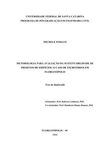 metodologia para avalia - Laboratório de Eficiência Energética em ...