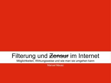 Filterung und Zensur im Internet