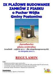 regulamin - zamki z piasku 2011-www - Centrum Kultury i Sportu w ...