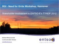 Stakeholders involvement in ENTSO-E`s TYNDP 2012