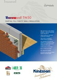 Thermwall TW50 partial fill cavity wall insulation - CMS