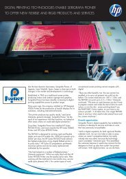 digital printing technologies enable serigrafia pioner - HP