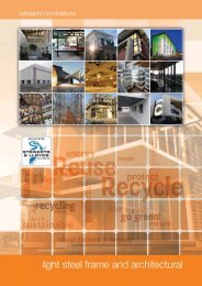 light steel frame and architectural - Southern African Institute of Steel ...