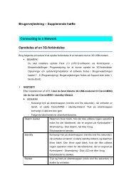 Brugervejledning – Supplerende hæfte Oprettelse af en 3G ...