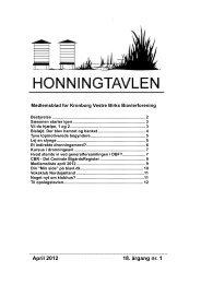 April 2012 18. årgang nr. 1 - Kronborg Vestre Birks Biavlerforening