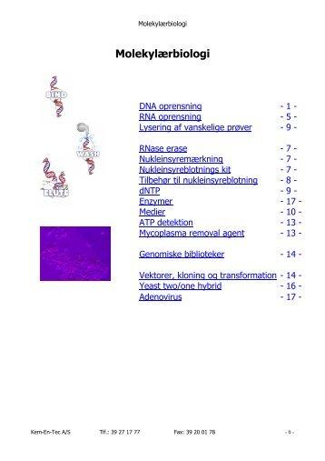 Molekylærbiologi - Kem-En-Tec