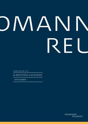II. ErstatnIng & KontraKt - aftalErEt - Kromann Reumert