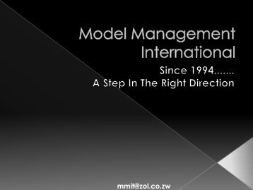 to view Model Management Overview PDF - Mydestination