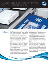 Pharmaceutical coding and marking at Sanofi-Aventis from ... - HP