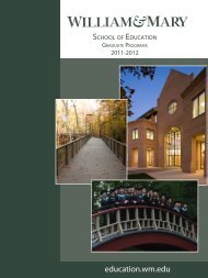 Graduate Catalog 2011-2012 - School of Education - College of ...