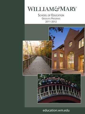 Graduate Catalog 2011-2012 - School of Education - College of ...